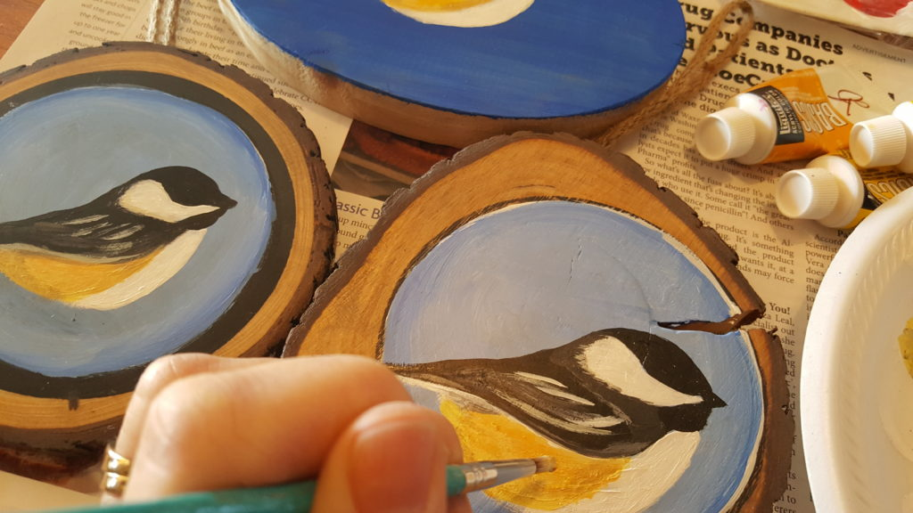 Working on some chickadees!